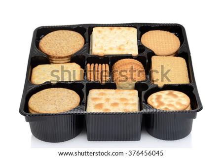 box assorted crackers - stock photo