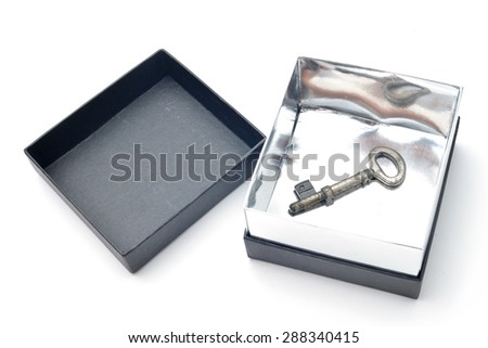 box containing the key to success - stock photo