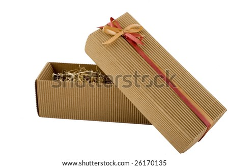 Box for a gift - stock photo