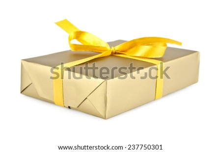 box for a gift on a white background