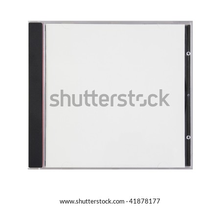 box for disk with blank cover is on white - stock photo