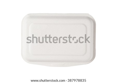 box for food isolated on white background