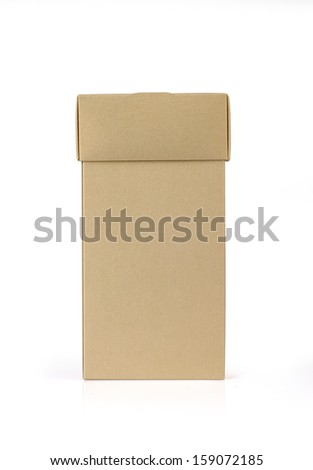 Box for gift on white background.
