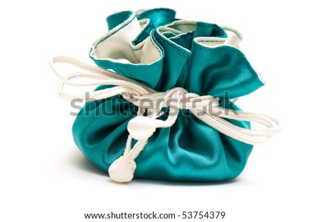 box for jeweller decorations on the white isolated background - stock photo