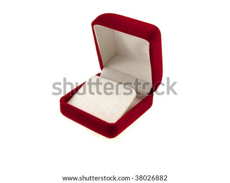 Box for jewelry isolated on a white background - stock photo