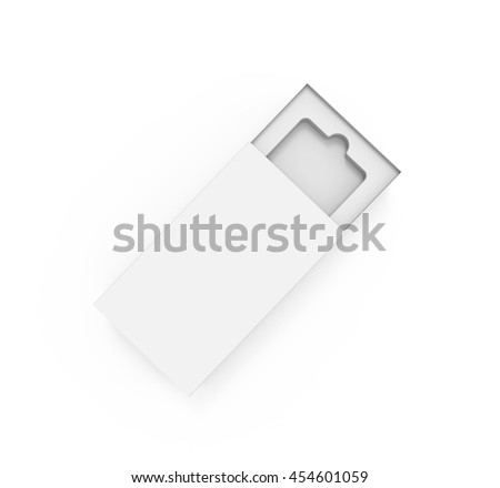 Box for mobile phone, or other things, isolated on white background. 3D illustration