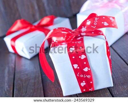 box for present - stock photo