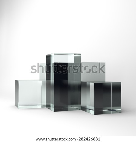 box glass display - stock photo