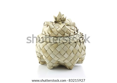 Box in thai style isolated in white background