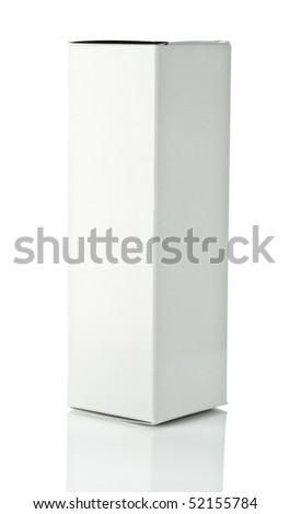 box isolated - stock photo