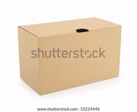Box isolated in white background - stock photo