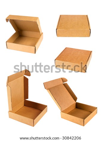 box isolated on white back.