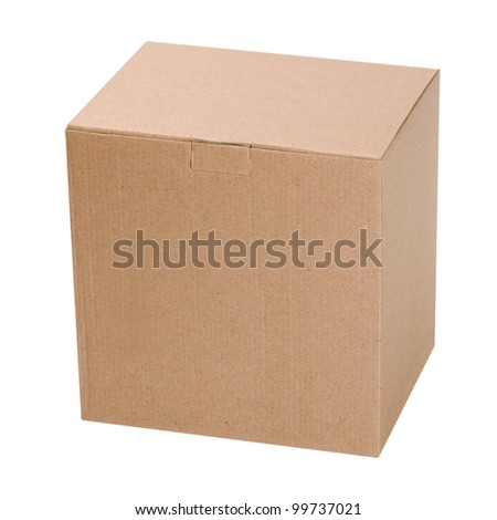 box isolated on white background - stock photo