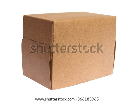 box isolated with white background.