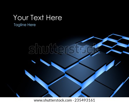 Box lights 3d dynamic wave background - stock photo