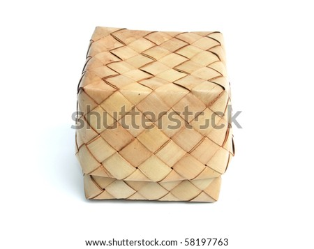 Box make with nature weave - stock photo