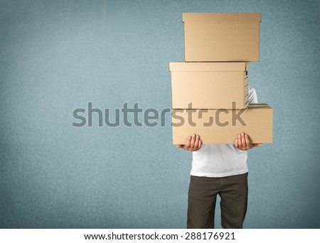 Box, Moving House, Moving Office. - stock photo