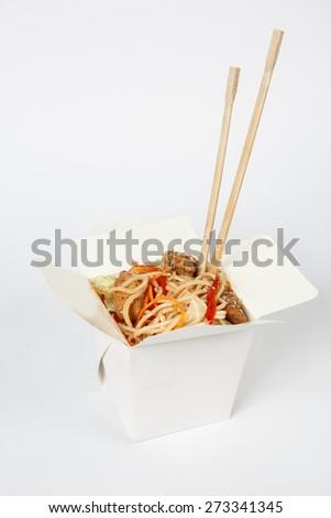 box of Chinese food - stock photo
