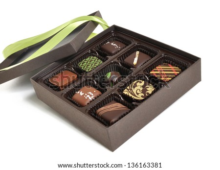 Box of chocolate candies