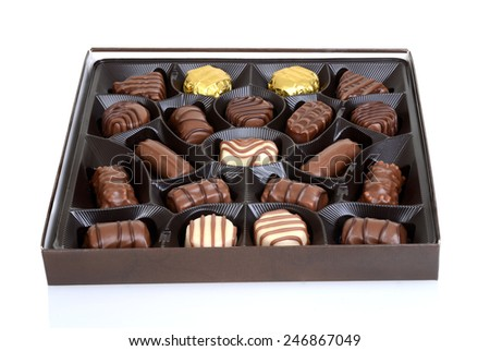 box of chocolates - stock photo