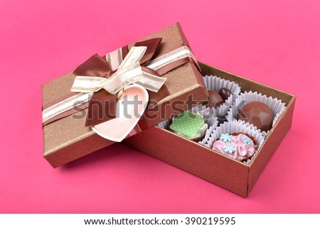 box of chocolates - stock photo
