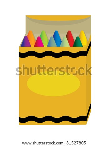 Box of crayons - stock photo