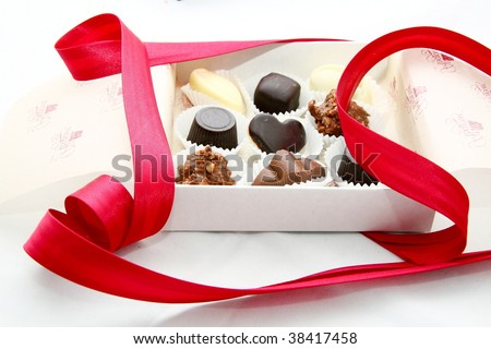 Box of delicious chocolate sweets
