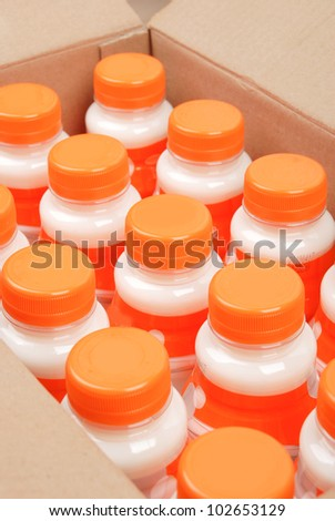 Box of drink - stock photo