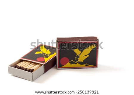box of matches2 - stock photo
