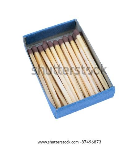 Box of Matches Cutout - stock photo