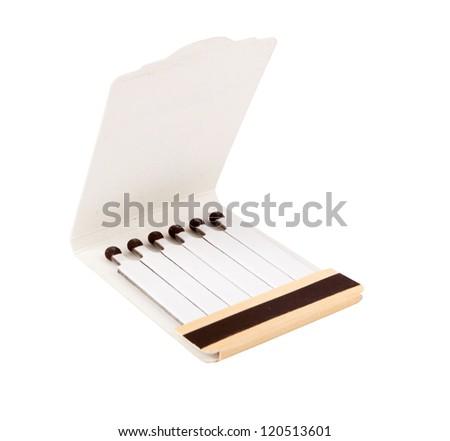 Box of matches isolated ona white - stock photo