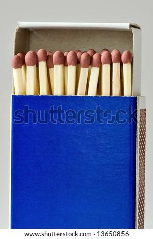 Box of matchsticks - stock photo