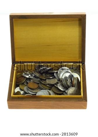 Box of money - stock photo