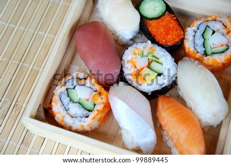 Box of Sushi - stock photo