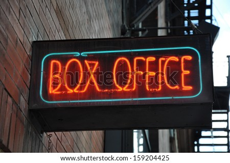 Box office lighted sign