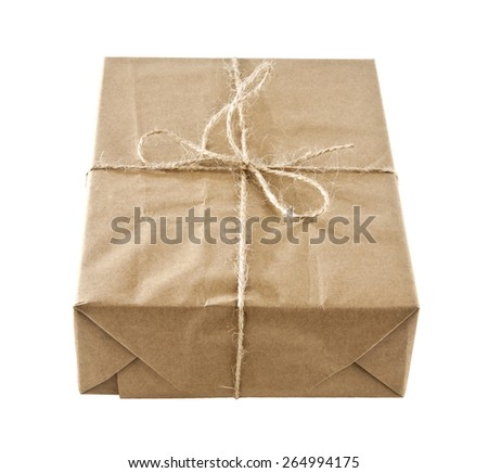 box on a white background - stock photo