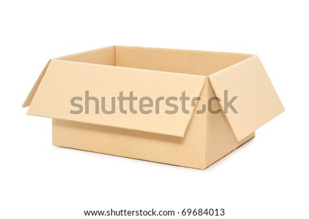 box open isolated over a white background