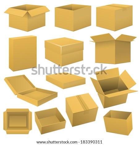 Box set. Raster copy. - stock photo