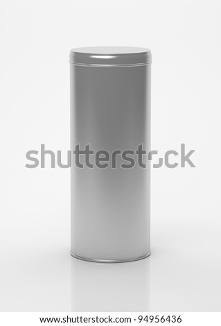 Box tea without label on a white background - stock photo