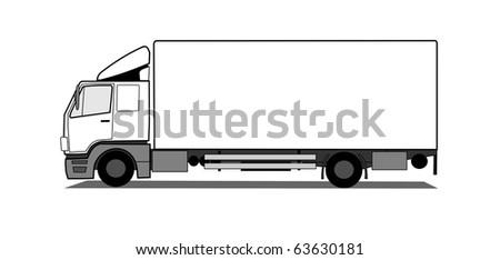 Box truck - stock photo