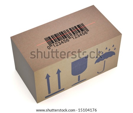 Box with barcode