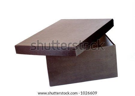 Box with black snake texture - stock photo