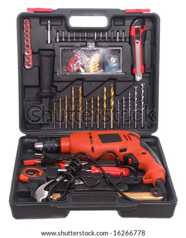 box with tools - stock photo