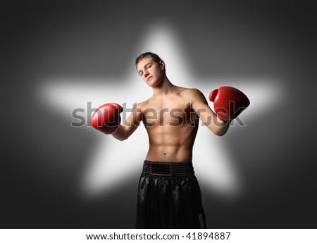 boxe champion - stock photo