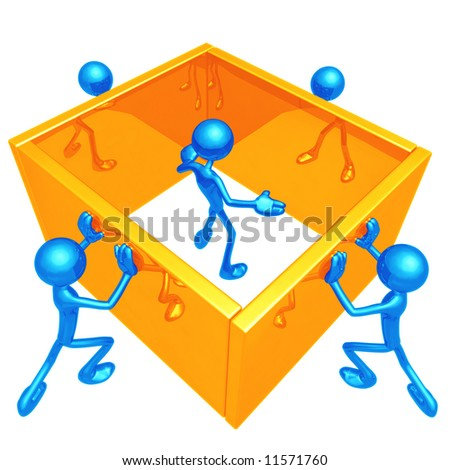 Boxed In - stock photo