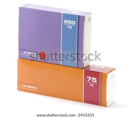 boxed medication - stock photo