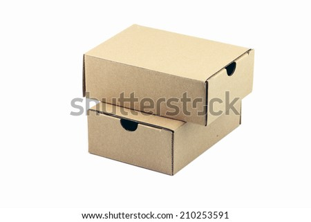 Boxes for packing goods to customers