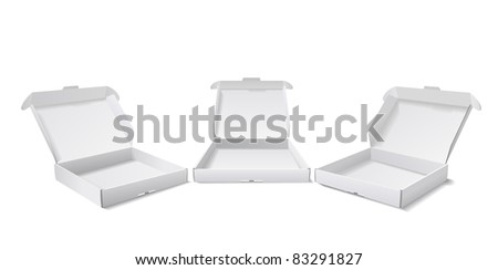 Boxes for packing of goods are shown in the picture. - stock photo