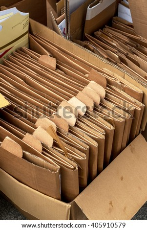 boxes for paper collection - stock photo