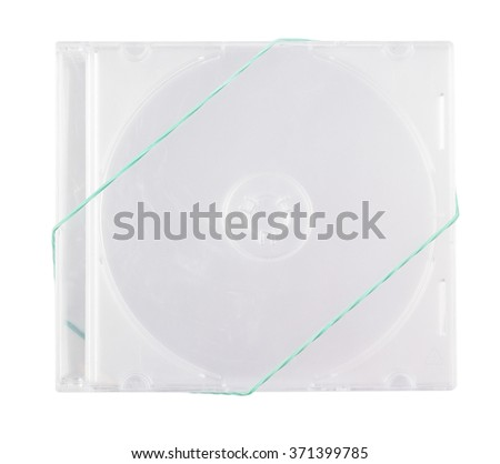 Boxes for the disks CD on the white isolated background - stock photo